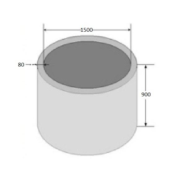 кольцо бетонное высота