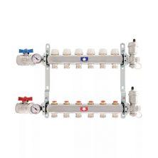 Коллектор Itap (Айтап)1″Х3/4″х 3 с запорными клапанами