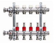 Коллектор распределительный Kermi SFT «Комфорт» 1″1/4х1 для теплого пола с расходомерами