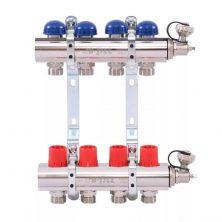 Коллектор Uni-Fitt (Уни-Фитт) 1″3/4″х4 с регулировочными и термостатическими вентилями
