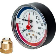 Термоманометр STOUT аксиальный DN80 SIM-0005-800415