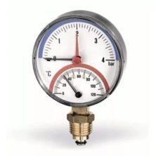 Watts F+R828 Термоманометр радиальный 6х1/2″ DN 80 (0-6 бар)